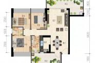 2栋:105㎡,4房2厅2卫
