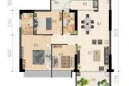 2栋:100㎡,3房2厅2卫