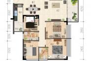 1栋:102㎡,4房2厅2卫